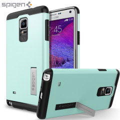 Spigen Slim Armor Case Samsung Galaxy Note 4 Hülle in Minze