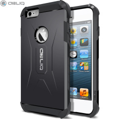 The Obliq Xtreme Pro Dual Layered Tough Case in black is a hybrid ergonomic protective case for the iPhone 6S / iPhone 6, providing fantastic shock absorption without adding excessive bulk.