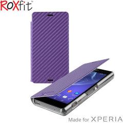 Roxfit Slim Book Sony Xperia Z3 Compact Case - Carbon Purple