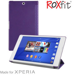 Housse Sony Xperia Z3 Tablet Compact Roxfit Book Slim–Carbone Violette