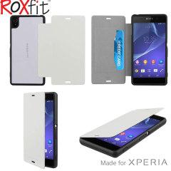 Custodia flip Plus Roxfit per Sony Xperia Z3 - Bianco