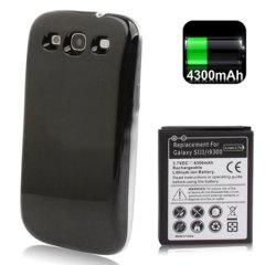 Kit Batterie Samsung Galaxy S3 Extended - 4300 mAh - Noir