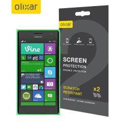 Olixar Display Schutzfolie für Nokia Lumia 735 2 für 1