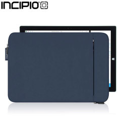 Use the stylish, blue Incipio ORD tablet sleeve to ensure complete protection for your Microsoft Surface Pro 3. It comes with thick shock absorbing padding and has a zipper to give you easy access to your device any time you want.