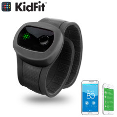 KidFit Childrens Wireless Fitness Tracking Wristband - Black