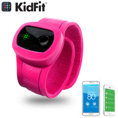 KidFit Childrens Wireless Fitness Tracking Wristband - Pink