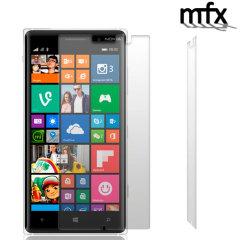 Mantenga la pantalla de su Nokia Lumia 830 en perfectas condiciones gracias a este pack de 2 protectores de pantalla resistentes a arañazos de MFX.