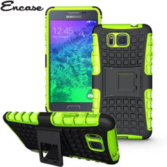 Protect your Samsung Galaxy Alpha from bumps and scrapes with this green Encase ArmourDillo case. Comprised of an inner TPU case and an outer impact-resistant exoskeleton, the ArmourDillo provides robust protection and supreme styling.