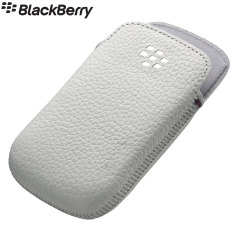 Official BlackBerry Classic Leather Pocket Case - White