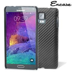 Olixar Carbon Fibre Print Samsung Galaxy Note 4 Case Hülle in Schwarz