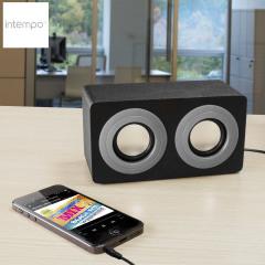 Intempo Mini Blaster Dual Speaker - Grey and Black