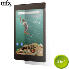 Keep your Google Nexus 9's screen in pristine condition with this 5 pack of MFX scratch-resistant screen protectors.