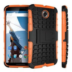 Protect your Google Nexus 6 from bumps and scrapes with this orange Encase ArmourDillo case. Comprised of an inner TPU case and an outer impact-resistant exoskeleton, the ArmourDillo provides robust protection and supreme styling.