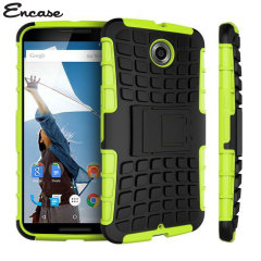 Protect your Google Nexus 6 from bumps and scrapes with this green Encase ArmourDillo case. Comprised of an inner TPU case and an outer impact-resistant exoskeleton, the ArmourDillo provides robust protection and supreme styling.