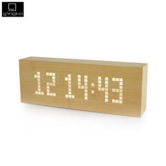 Gingko Message Click Clock - Light Wood-Style