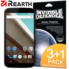 Rearth Invisible Defender Nexus 6 Displayschutz im 3er Pack