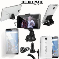 Le pack accessoires comprend des articles indispensables. Celui-ci a été conçu pour protéger et exploiter au mieux votre Google Nexus 6 que ce soit chez vous, à votre bureau ou même en voiture.