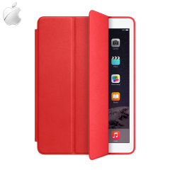 Apple Leather Smart Case voor iPad Air 2 - Rood