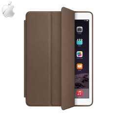 The brown leather Smart Case and the iPad Air 2 were made for each other. Built-in magnets draw the Smart Case to the Air 2 for a perfect fit that not only protects, but also wakes up, stands up and brightens up your iPad Air 2.