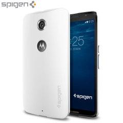 Coque Nexus 6 Spigen SGP Thin Fit – Blanche