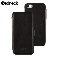 Custodia Libro Redneck Red Line in Pelle per iPhone 5 / 5S - Nero