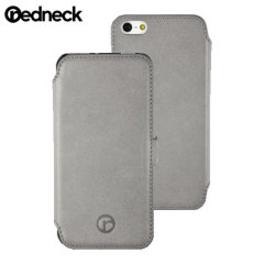 Custodia Libro Redneck Red Line in Pelle per iPhone 5 / 5S - Grigio