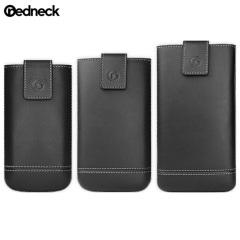 Redneck Leder Universal Smartphone Tasche XXL in Schwarz