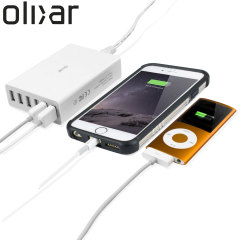 Olixar 6 USB Smart IC Oplader EU AC Adapter - 10 Amps  / 50W