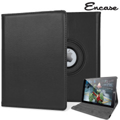 Protect your iPad Air 2 with this fantastic black leather-style case with 360 degree rotating viewing stand for portrait and landscape positions.
