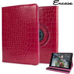 A lightweight bright red leather-style case with alligator pattern design. Offering perfect protection for your iPad Mini 3 / 2 / 1 while also offering a unique look and feel.