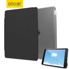 The black Olixar Smart Cover and the iPad Mini 3 / 2 / 1 were made for each other. Built-in magnets draw the Smart Case to the iPad Mini for a perfect fit that not only protects, but also wakes up, stands up and brightens up your tablet.