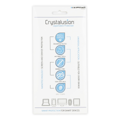 Using liquid nanotechnology to protect your smartphone and tablet, the Crystalusion Liquid Glass twin pack provides a resistive layer that protects coated surfaces from dirt, oil, dust, abrasion and bacteria for up to 12 months.