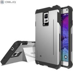 Obliq Skyline Pro Samsung Galaxy Note 4 Stand Case Hülle in Gunmetal