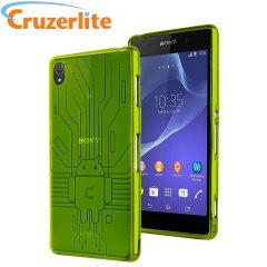 Cruzerlite Bugdroid Circuit für Sony Xperia Z3 Hülle in Grün