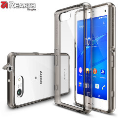 Protect the back and sides of your Sony Xperia Z3 Compact with this incredibly durable and translucent smoke black Fusion Case by Ringke.