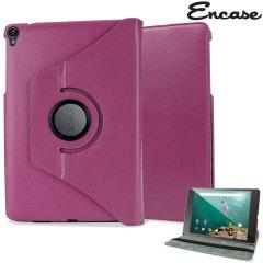 Encase lerenstijl draaibare Google Nexus 9 Case - Paars