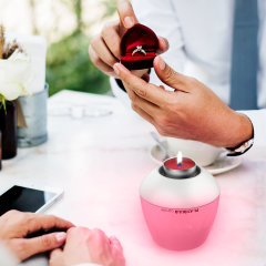 The beauty of a candle, yet the wonders of digital - the MiPow Playbulb Candle features LEDs to create a huge variety of colours to suit your mood and can even be blown out like a real candle. It is handy, smart and more importantly... safe!