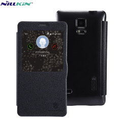 Housse View Samsung Galaxy Note 4 Nillkin Style cuir - Noire