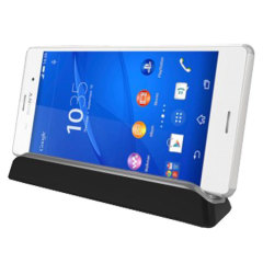 Charge your Xperia Z3 with this stylish desktop cradle which also acts as a multimedia viewing stand.