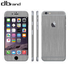 dbrand Textured iPhone 6 Cover Skin - in Titanium Silber
