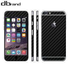 dbrand Textured iPhone 6S Plus /6 Plus Cover Skin Carbon Fibre Schwarz