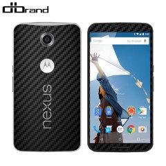 dbrand Textured Google Nexus 6 Cover Skin - in Carbon Fibre Schwarz