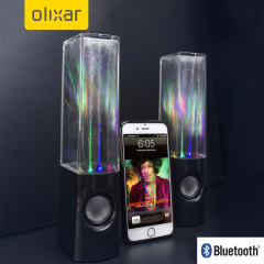 Sound and vision in perfect harmony! These awesome Bluetooth speakers by Olixar pump water jets to the beat of your music. They look as good as they sound and they sound amazing.