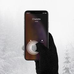 Smart TouchTip Handschuhe für Männer - Schwarz
