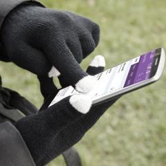Gants Smart TouchTip Ecran tactile pour Femmes - Noir