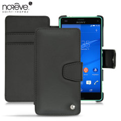 Keep your Sony Xperia Z3 Compact well protected from damage with this high quality, beautifully crafted genuine black leather case from Noreve.