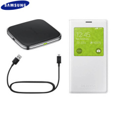 Official Samsung Galaxy S5 S View Qi Wireless Charging Kit - White