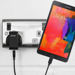 Charge your Samsung Galaxy Tab Pro 8.4 quickly and conveniently with this compatible 2.4A high power charging kit. Featuring mains adapter and USB cable.