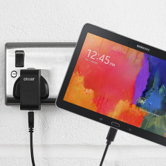 Charge your Samsung Galaxy Tab Pro 10.1 quickly and conveniently with this compatible 2.4A high power charging kit. Featuring mains adapter and USB cable.