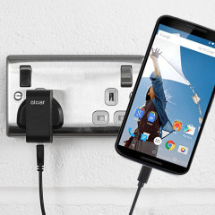 Charge your Google Nexus 6 Charger quickly and conveniently with this compatible 2.5A high power charging kit. Featuring mains adapter and USB cable.
